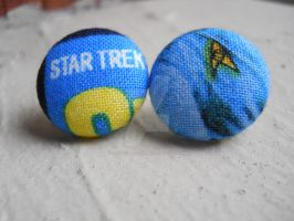 Star Fleet Command Insignia Earrings - Blue by QuixoticExoticism