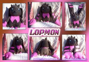 Lopmon plush by Starshot-seeker