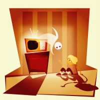friendly ghost of television by mohdfikree
