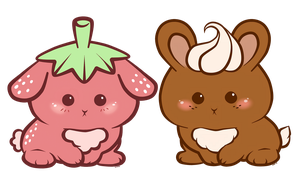 Strawbunnie and Cocobunnie_ PPR Design by LuckySquidStudios