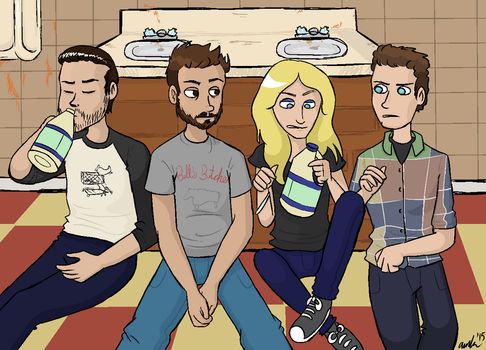 The Gang Gets Quarentined by Azulbunny