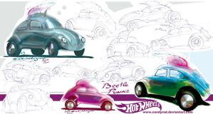 VW Beetle punk rods by candyrod
