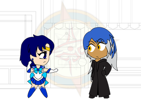 Chibi Chain - Hearts - Sailor Mercury by Dragon-FangX