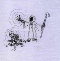 Necromancer sketch by BlackMage1234
