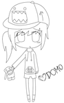 domo girl lineart by amai-raion