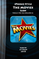 iPhone Style The Movies Icon by 413East