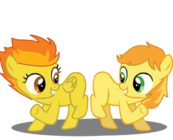 Spitfire and Braeburn: Best Frients Forever by 3D4D