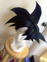 Goku (black variant) wig commission 2 by maggifan