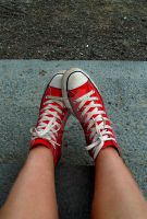Red Converse Love by Plindisen
