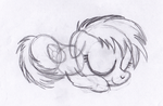 Tiny Rainbow Dash by drawponies