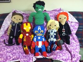 Avenger Plushies ASSEMBLE by Konsumer