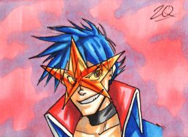 Simon Sketch Card by ibroussardart