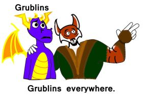 Grublins, Grublins everywhere by SpyrotheBadassDragon