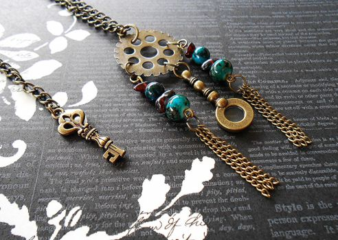 Steampunk Dream Catcher Necklace by random-wish
