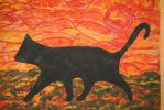Newest painting today  - shadow cat by ingeline-art