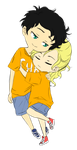 Percy and Annabeth by bookaholic5
