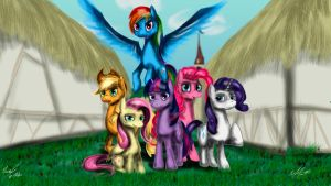 Mane six by AFL316
