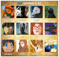 2012 Art summary by FeatheredSoap