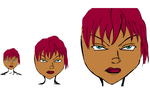 REd Hair Black Chick DRawing by WeaponTheory