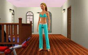 Cleo de Nile in bra and pants by Dorothy64116