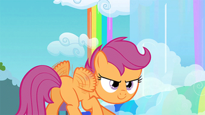 Scootaloo Preparing for Takeoff (Animated) by MisterAlex
