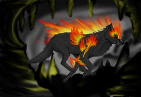 Dark wolf fire version by XxWaterDiamondxX
