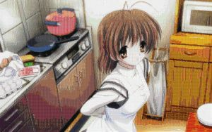 Clannad Nagisa Cooking mosaic by smallrinilady