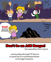 Ass Burgers vs Aspergers by snowcalico