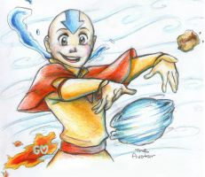 Aang sketch by Gorseheart