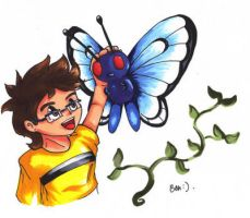 Me and butterfree by phersopiers
