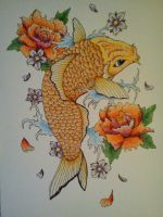 Koi fish Tattoo Designs by KawaiiMoogle