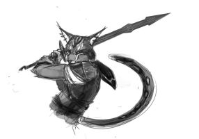Skyrim Soren - Sketch by Dygee