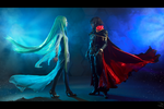 Captain Harlock and Miime by adelhaid