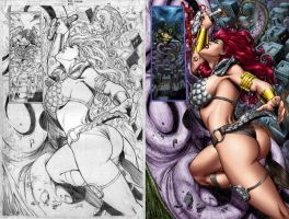 Red Sonja 43 page 04 by wgpencil