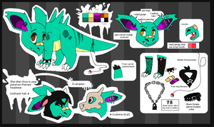 Cora Reference Sheet by SpunkyRacoon