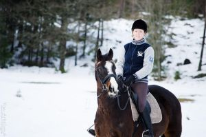 horse and owner in januari 2013 #3 by TinyCricket