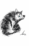 Wolf doodle....I guess by AnnaDra