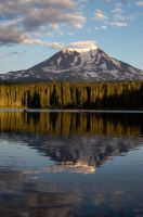 Mt. Adams in the Evening from Takhlakh Lake by AFL