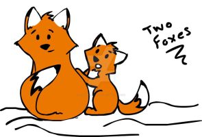 Two Foxes by theKatandtheBox