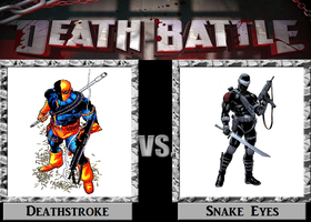 Death Battle Idea Deathstroke vs. Snake Eyes by PRS3245