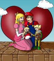 Super Mario Freeman Family by funkymonkeysyd