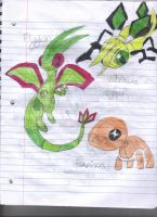 flygon and pre evolution by teamspike3