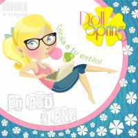 Doll Spring en .PSD y .PNG by iCrayolaa