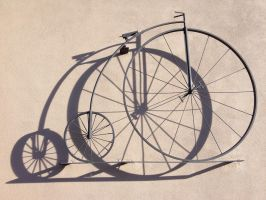 Bicycle and its Shadow by MogieG123