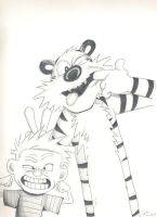 Calvin and Hobbs by CLAYMOR