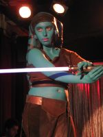 Aayla Secura on defense by Marie-Ange-the-Celt