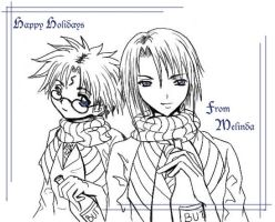 Harry and Draco Christmas Card by ProdigyBombay