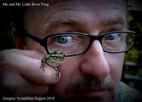 Me and My Little River Frog by UffdaGreg