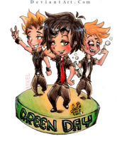 Green Day Chibi - Flatter me by IwannaPissInYourBed
