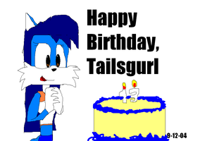 Bday pic for Tailsgurl by Marcusthehedgehog
